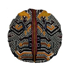 Traditional Batik Indonesia Pattern Standard 15  Premium Round Cushions