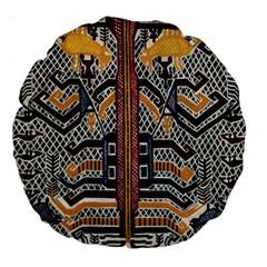 Traditional Batik Indonesia Pattern Large 18  Premium Round Cushions