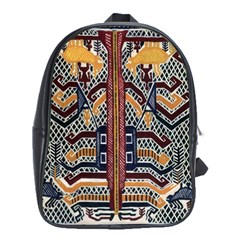Traditional Batik Indonesia Pattern School Bags (xl)  by BangZart