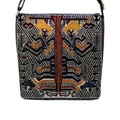 Traditional Batik Indonesia Pattern Flap Messenger Bag (l)  by BangZart