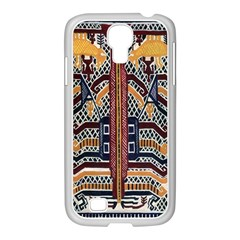 Traditional Batik Indonesia Pattern Samsung Galaxy S4 I9500/ I9505 Case (white) by BangZart