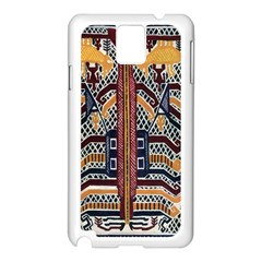 Traditional Batik Indonesia Pattern Samsung Galaxy Note 3 N9005 Case (white) by BangZart