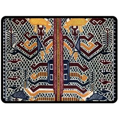 Traditional Batik Indonesia Pattern Double Sided Fleece Blanket (large)  by BangZart