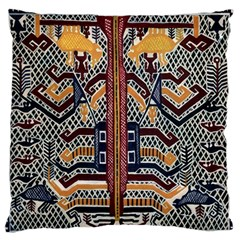 Traditional Batik Indonesia Pattern Large Flano Cushion Case (two Sides) by BangZart