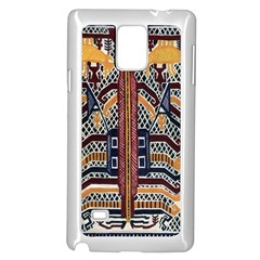 Traditional Batik Indonesia Pattern Samsung Galaxy Note 4 Case (white)