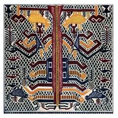 Traditional Batik Indonesia Pattern Large Satin Scarf (square) by BangZart