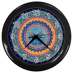 Traditional Pakistani Art Wall Clocks (black) by BangZart