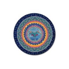 Traditional Pakistani Art Magnet 3  (round)