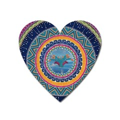 Traditional Pakistani Art Heart Magnet by BangZart