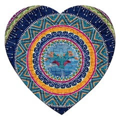 Traditional Pakistani Art Jigsaw Puzzle (heart)
