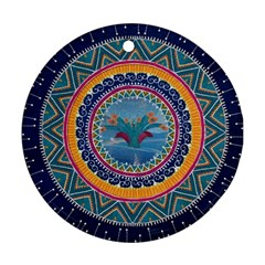 Traditional Pakistani Art Round Ornament (two Sides)