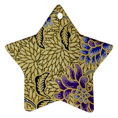 Traditional Art Batik Pattern Ornament (star)