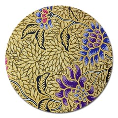 Traditional Art Batik Pattern Magnet 5  (round) by BangZart