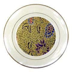 Traditional Art Batik Pattern Porcelain Plates by BangZart