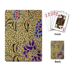 Traditional Art Batik Pattern Playing Card