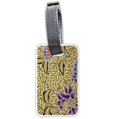 Traditional Art Batik Pattern Luggage Tags (one Side)