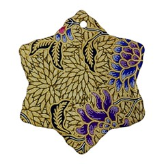 Traditional Art Batik Pattern Ornament (snowflake)