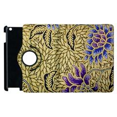 Traditional Art Batik Pattern Apple Ipad 2 Flip 360 Case by BangZart