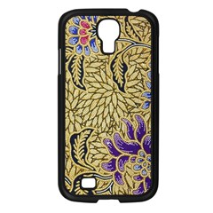 Traditional Art Batik Pattern Samsung Galaxy S4 I9500/ I9505 Case (black) by BangZart