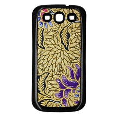 Traditional Art Batik Pattern Samsung Galaxy S3 Back Case (black)