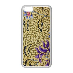 Traditional Art Batik Pattern Apple Iphone 5c Seamless Case (white) by BangZart