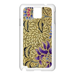 Traditional Art Batik Pattern Samsung Galaxy Note 3 N9005 Case (white)