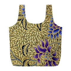Traditional Art Batik Pattern Full Print Recycle Bags (l)