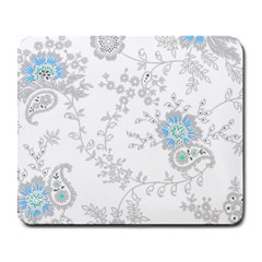 Traditional Art Batik Flower Pattern Large Mousepads by BangZart