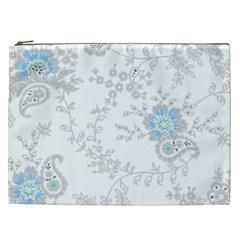 Traditional Art Batik Flower Pattern Cosmetic Bag (xxl)