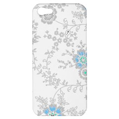 Traditional Art Batik Flower Pattern Apple Iphone 5 Hardshell Case by BangZart