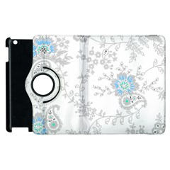Traditional Art Batik Flower Pattern Apple Ipad 3/4 Flip 360 Case by BangZart