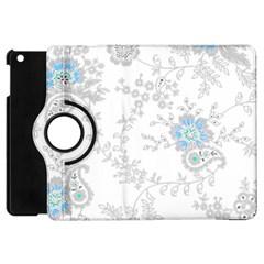Traditional Art Batik Flower Pattern Apple Ipad Mini Flip 360 Case by BangZart