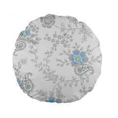 Traditional Art Batik Flower Pattern Standard 15  Premium Round Cushions