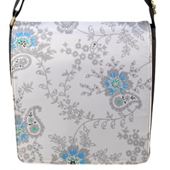 Traditional Art Batik Flower Pattern Flap Messenger Bag (s)