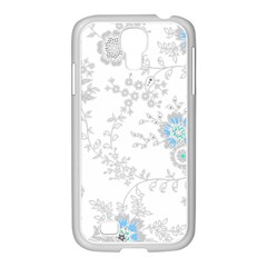 Traditional Art Batik Flower Pattern Samsung Galaxy S4 I9500/ I9505 Case (white) by BangZart