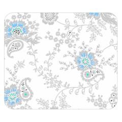 Traditional Art Batik Flower Pattern Double Sided Flano Blanket (small)