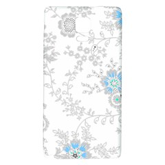 Traditional Art Batik Flower Pattern Galaxy Note 4 Back Case by BangZart