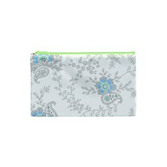 Traditional Art Batik Flower Pattern Cosmetic Bag (xs) by BangZart