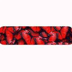 The Red Butterflies Sticking Together In The Nature Large Bar Mats by BangZart
