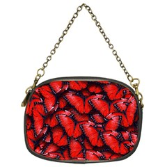 The Red Butterflies Sticking Together In The Nature Chain Purses (one Side)  by BangZart