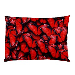 The Red Butterflies Sticking Together In The Nature Pillow Case by BangZart