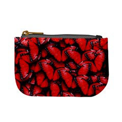 The Red Butterflies Sticking Together In The Nature Mini Coin Purses