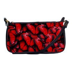 The Red Butterflies Sticking Together In The Nature Shoulder Clutch Bags by BangZart