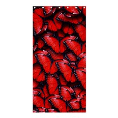 The Red Butterflies Sticking Together In The Nature Shower Curtain 36  X 72  (stall)