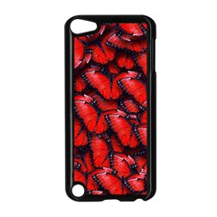 The Red Butterflies Sticking Together In The Nature Apple Ipod Touch 5 Case (black) by BangZart