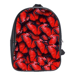 The Red Butterflies Sticking Together In The Nature School Bags (xl)  by BangZart