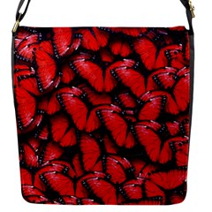 The Red Butterflies Sticking Together In The Nature Flap Messenger Bag (s) by BangZart