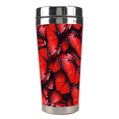 The Red Butterflies Sticking Together In The Nature Stainless Steel Travel Tumblers by BangZart