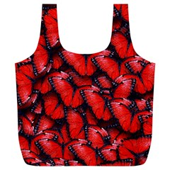 The Red Butterflies Sticking Together In The Nature Full Print Recycle Bags (l)