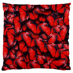 The Red Butterflies Sticking Together In The Nature Standard Flano Cushion Case (two Sides) by BangZart
